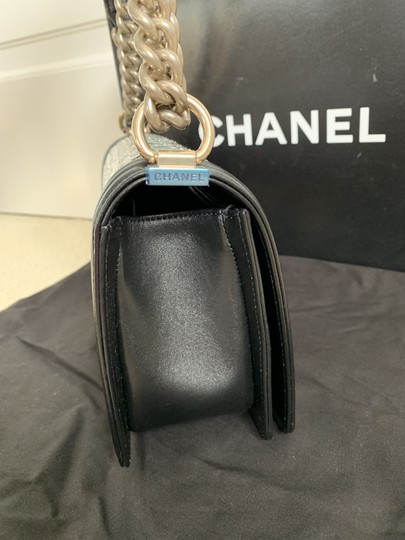 Chanel Leather Boy Front Flap Chain Shoulder Bag Image 5