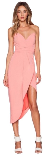 Item - Coral Pink 234567 Long Night Out Dress Size 8 (M)