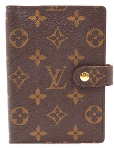 Louis Vuitton monogram 6 Ring agenda PM check book wallet holder card