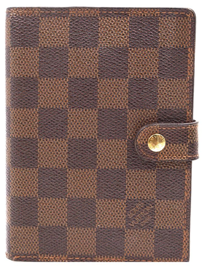 2f8cac5c8710 Louis Vuitton Damier 6 Ring agenda PM check book wallet holder card Image 0  ...