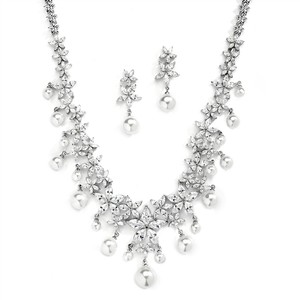 Stunning Glamorous Couture Crystals & Pearls Bridal Jewelry Set