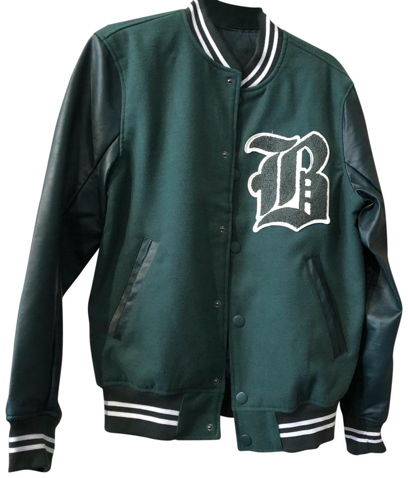 9f3c4cda1 H&M Green Men's Letterman Varsity Jacket Size 6 (S)