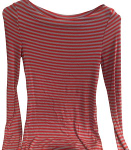 a3f2d411c40aa1 Anthropologie Top T Shirt pink and blue stripes