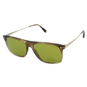 28246fe5da1 Tom Ford New TF Max-02 FT-588 Transparent Rectangular Wayfarer Sunglasses