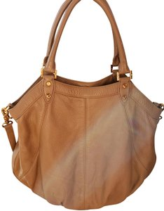 Tory Burch Dakota Hobo Crossbody Leather Pebbled Satchel in brown