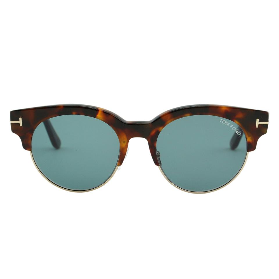 0deef95d475 Tom Ford New 2018 Henri Ft0598 Round 52mm Clubmaster Brow-bar Sunglasses  Image 0 ...