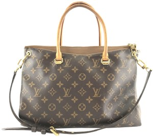 Louis Vuitton Lv Pallas Canvas Calfskin Shoulder Bag