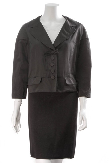 Preload https://img-static.tradesy.com/item/24695276/chanel-black-louis-vuitton-bow-button-up-jacket-size-12-l-0-0-650-650.jpg