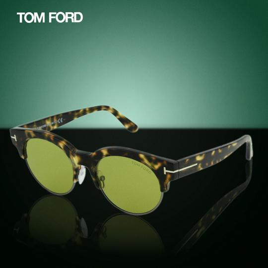 Tom Ford New Henri-02 TF598 55N Clubround Glass Lenses Sunglasses 52mm Image 2