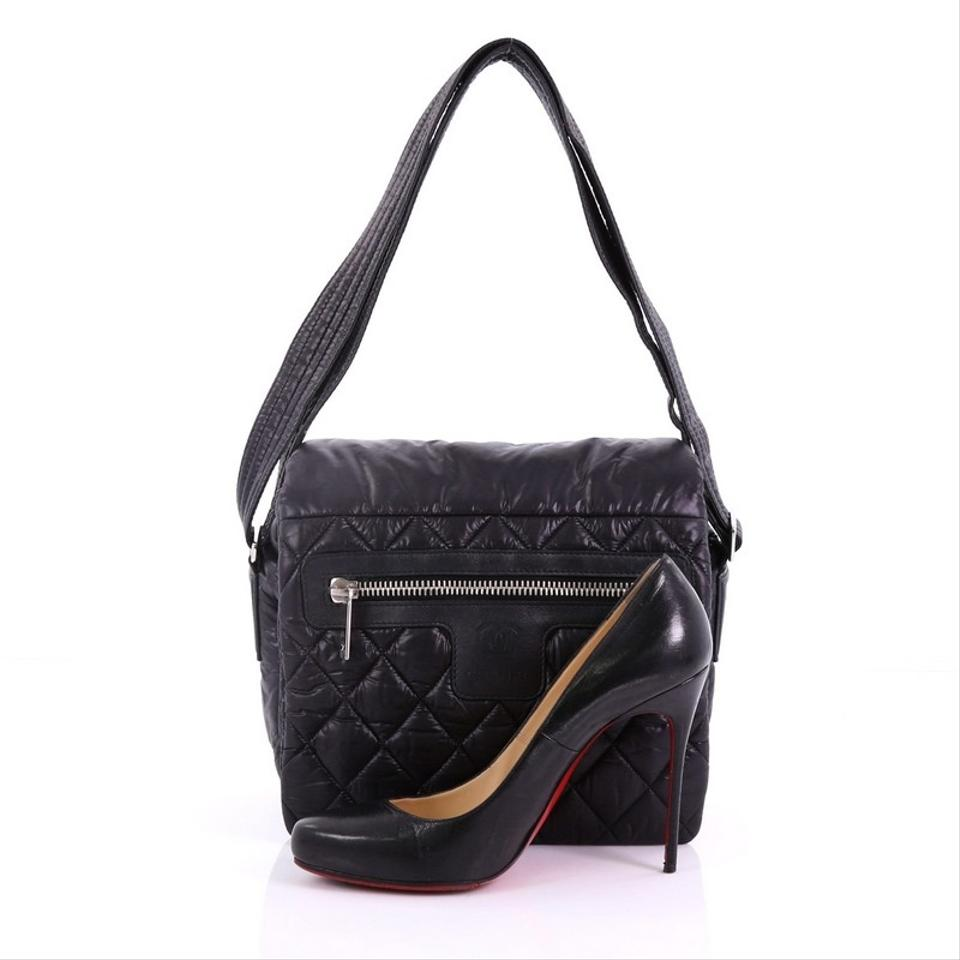 fc32f64a25db6 Chanel Messenger Cocoon Coco Quilted Medium Black Nylon Shoulder Bag -  Tradesy