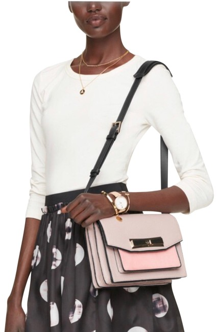 Item - Gabry Satchel Grey and Pink Leather Shoulder Bag