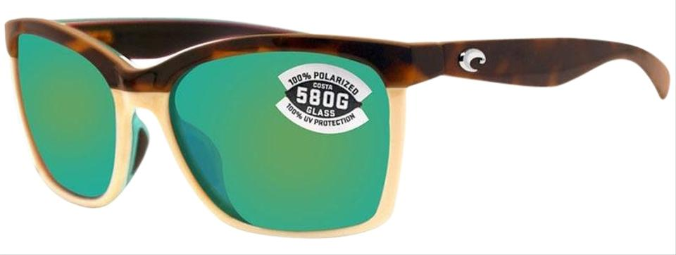 a7f7c6bbecf9 Costa Del Mar Retro Tortoise/Cream Frame & Green Polarized/Mirrored ...
