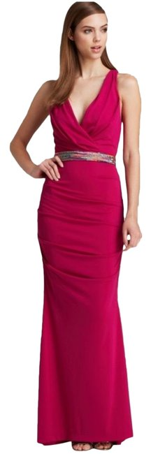 Item - Pink Berry Cross Back Beaded Gown Long Formal Dress Size 0 (XS)