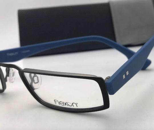 Flexon FLEXON Half-Eye Eyeglasses E1100 001 49-22 Black & Blue w/ Flexible Image 10