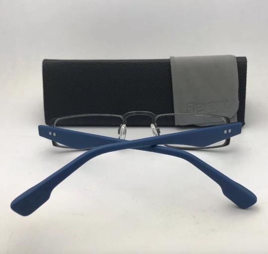 Flexon FLEXON Half-Eye Eyeglasses E1100 001 49-22 Black & Blue w/ Flexible Image 2
