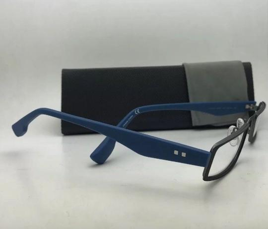 Flexon FLEXON Half-Eye Eyeglasses E1100 001 49-22 Black & Blue w/ Flexible Image 3