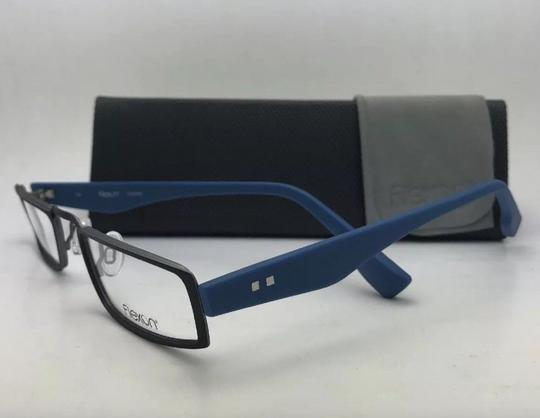 Flexon FLEXON Half-Eye Eyeglasses E1100 001 49-22 Black & Blue w/ Flexible Image 4