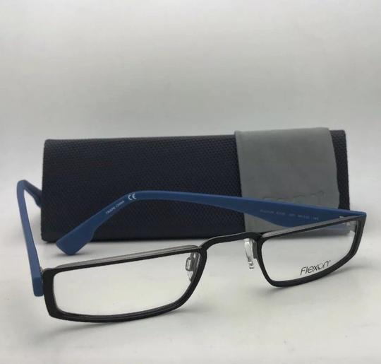 Flexon FLEXON Half-Eye Eyeglasses E1100 001 49-22 Black & Blue w/ Flexible Image 9