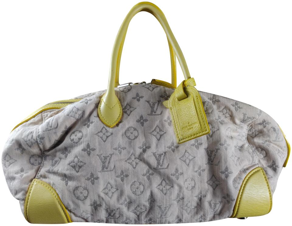067a29a2f7aa Louis Vuitton Monogram Denim Round Speedy Tote in yellow   beige Image 0 ...