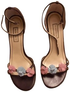 ef4491399080 Nordstrom Floral Leather Stiletto Classic Ankle Strap Brown