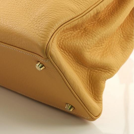 Hermès Kelly Leather Tote in Natural Sable yellow Image 6