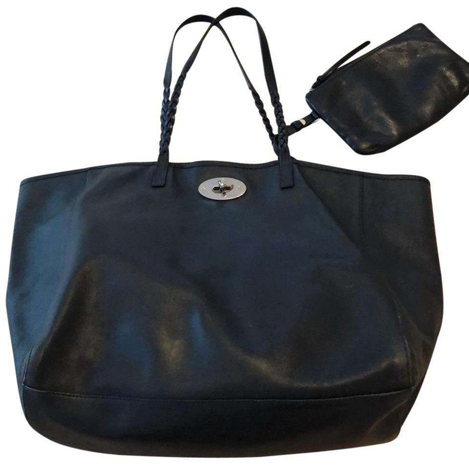 7ee497e46 Mulberry Deep Blue Tote Bag With A Little Pouch Tote in Deep Blue Image 0  ...