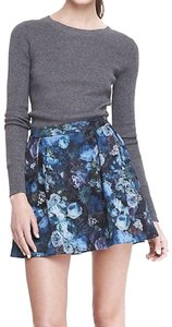 Express Floral Mini Skirt Blue, Green