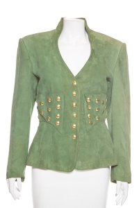 Jean Claude Jitrois Green Leather Jacket