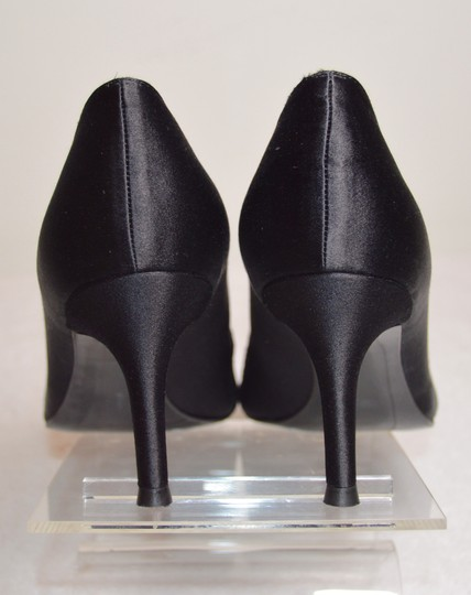 Stuart Weitzman Chantelle Crystals Satin And Lace Rhinestones Black Pumps Image 7