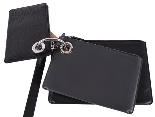 Michael Kors Leather Pouch 32f8sf9u7n Wristlet in Charcoal Image 2