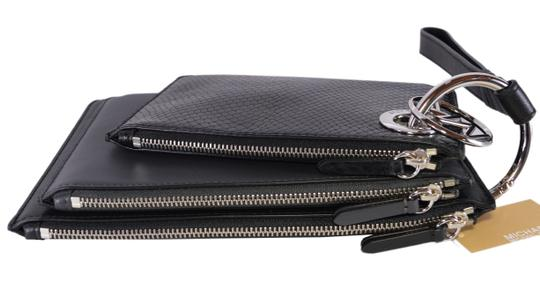 Michael Kors Leather Pouch 32f8sf9u7n Wristlet in Charcoal Image 3