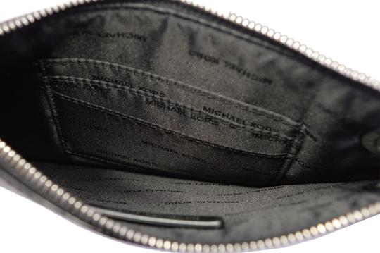 Michael Kors Leather Pouch 32f8sf9u7n Wristlet in Charcoal Image 4