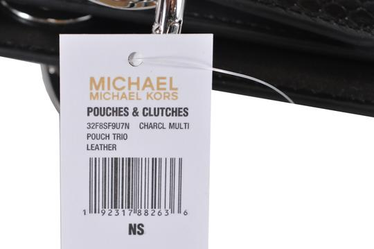 Michael Kors Leather Pouch 32f8sf9u7n Wristlet in Charcoal Image 5