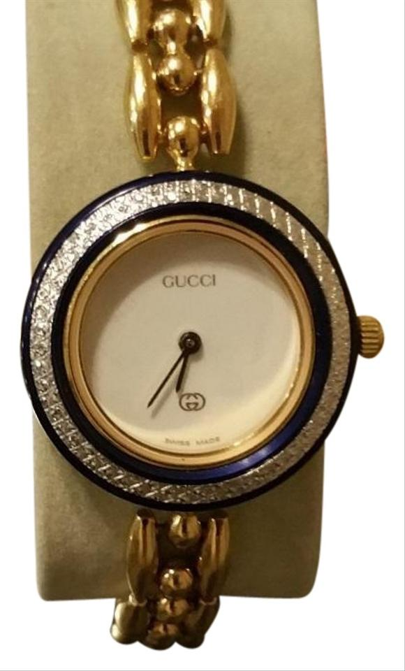 cb76b5cf622 Gucci Gold with Color Bezels 1100i Bracelet Changes 14 Watch - Tradesy