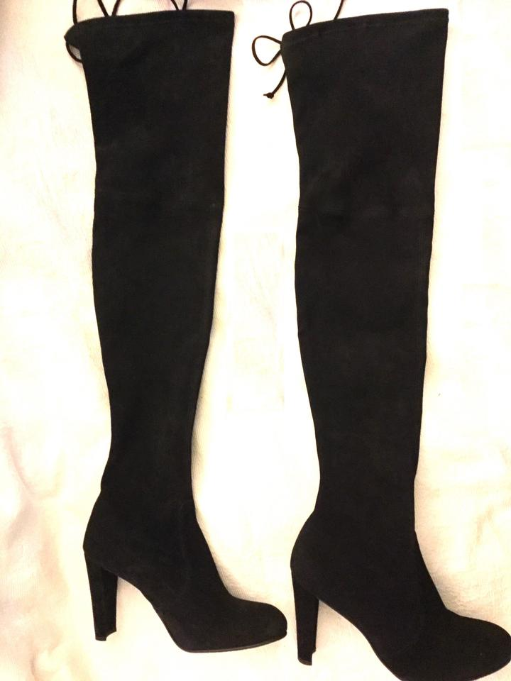 cd06ca7a4de Stuart Weitzman Black Suede Highland Over The Knee ~new In Box Boots Booties  Size US 8 Narrow (Aa