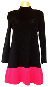 St. John short dress black Knit Santana A-line Sweater on Tradesy
