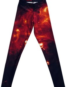 Blackmilk mix Orange, black Leggings