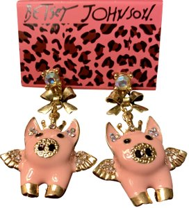 Betsey Johnson When Pigs Fly----Brand New On Card