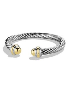 David Yurman 7mm Gold Dome Cable Classics Bracelet