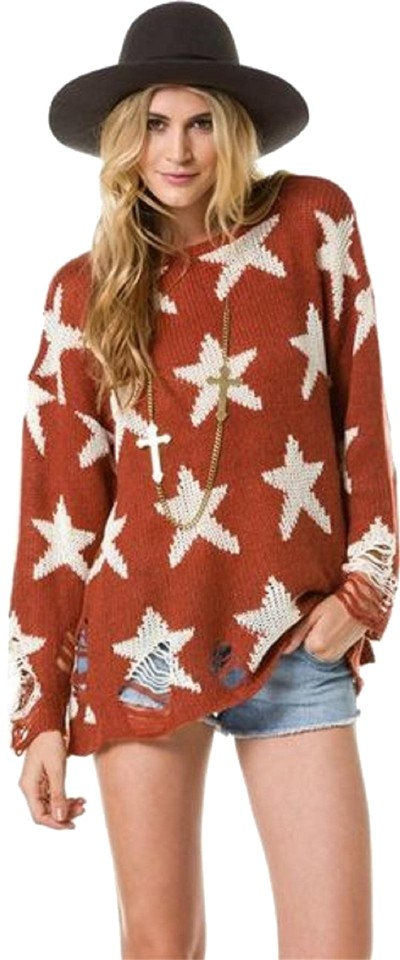 Wildfox Seeing Stars Lennon Free Love Sienna Copper Sweater 66% off retail