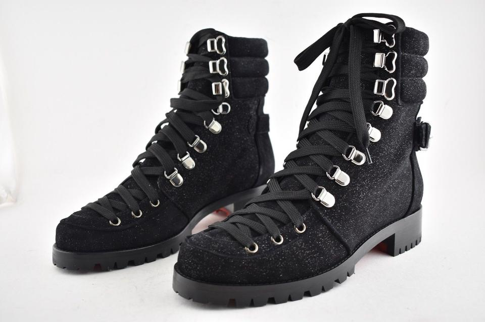 6ecfcd00daa Christian Louboutin Stiletto Ankle Classic Love black Boots Image 10.  1234567891011