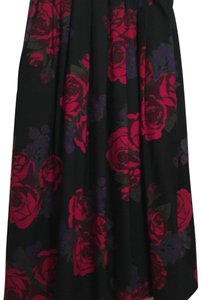 Laura Ashley Wool Floral Classic Formal Vintage Skirt Black Red Blue Green