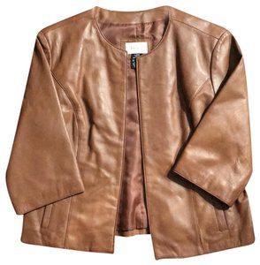 Neiman Marcus Brown Leather Jacket