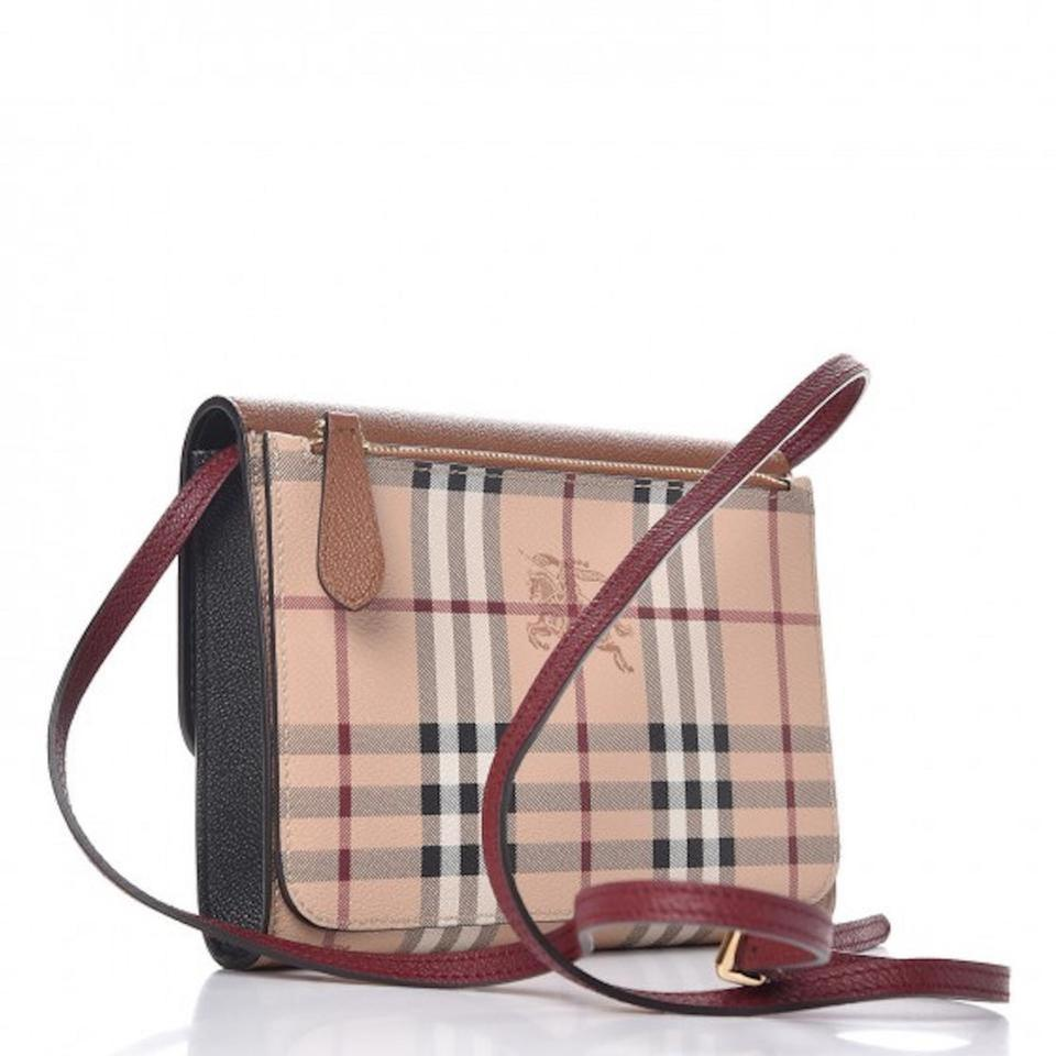 45d1a4dde9 Burberry Purse Handbag Check Leather Cross Body Bag Image 11.  123456789101112
