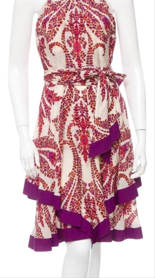1d604992474 Gucci Silk Printed Mid-length Cocktail Dress Size 6 (S) - Tradesy