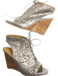 Fossil silver Wedges