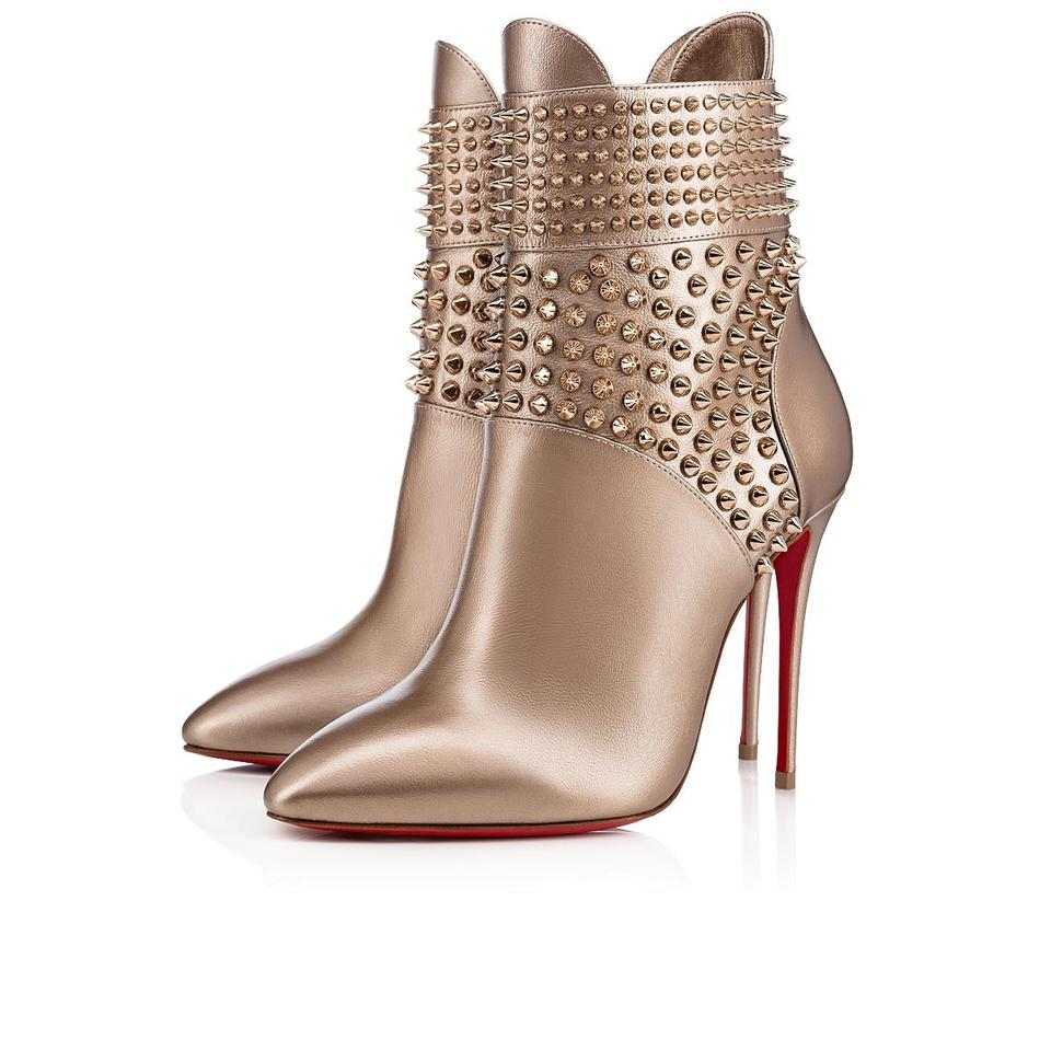 sports shoes f4f57 27f85 Christian Louboutin Gold Hongroise 100 Colombe Bronze Spike Ankle Heel  Stiletto Boots/Booties Size EU 40 (Approx. US 10) Regular (M, B)