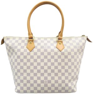 Louis Vuitton Lv Damier Azur Saleya Mm Canvas Shoulder Bag