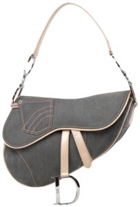 Dior Saddle Flap Trotter Oblique Signature Satchel in Gray