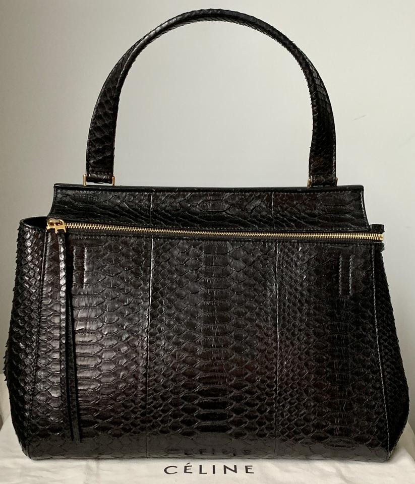 Céline Edge Medium Black Snakeskin Leather Shoulder Bag - Tradesy 530c89f52ab9b